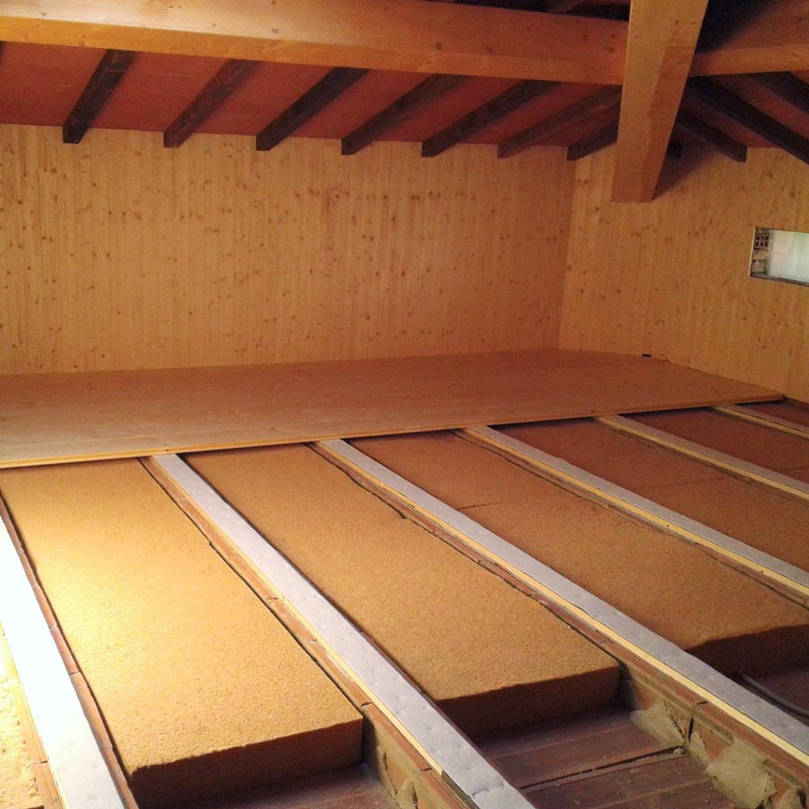 Flexible fiber wood FiberTherm Flex density 60kg/mc floor insulation