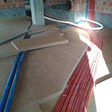 Dry screed with FiberTherm Fiber Wood